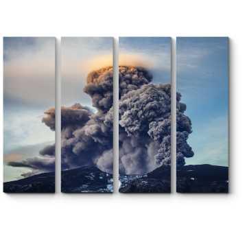 Извержение вулкана горы Онтаке