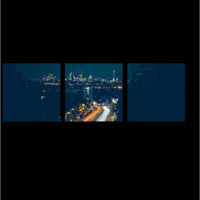 Модульная картина Пустынная дорога на окраине Лондона