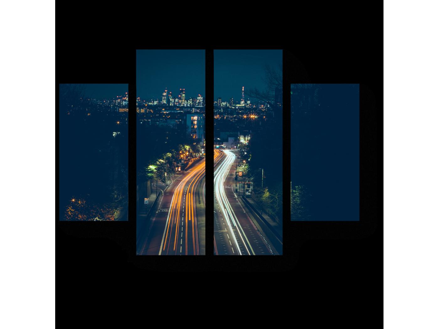 Модульная картина Пустынная дорога на окраине Лондона (80x60) фото