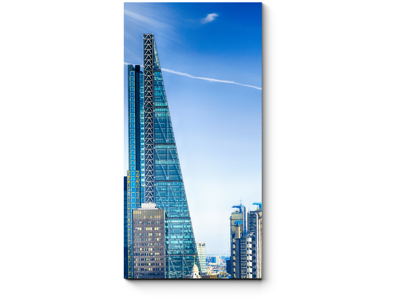 Модульная картина Небоскребы делового Лондона (20x40) фото