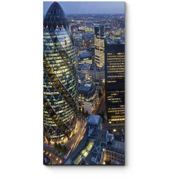 Огни делового центра Лондона