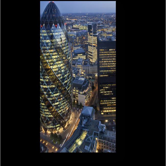 Модульная картина Огни делового центра Лондона