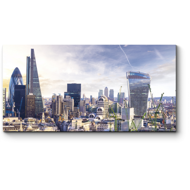 Модульная картина Сердце делового Лондона на закате
