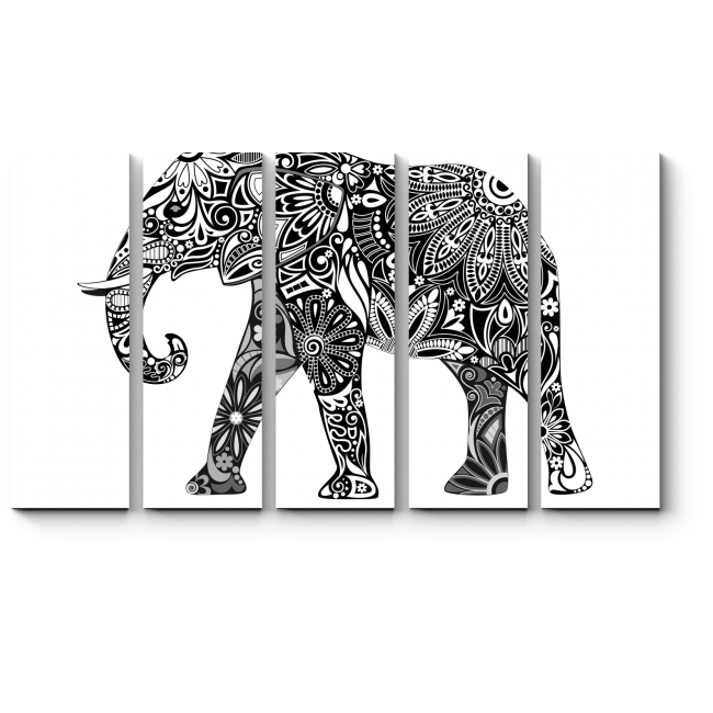 Модульная картина Цветущий слон