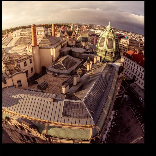 Модульная картина Необычный вид Праги