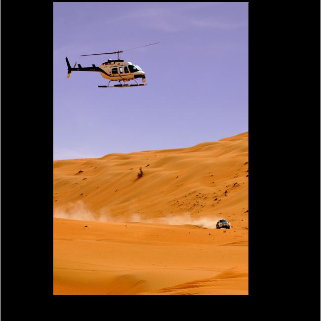 Модульная картина Гонки по пустыне