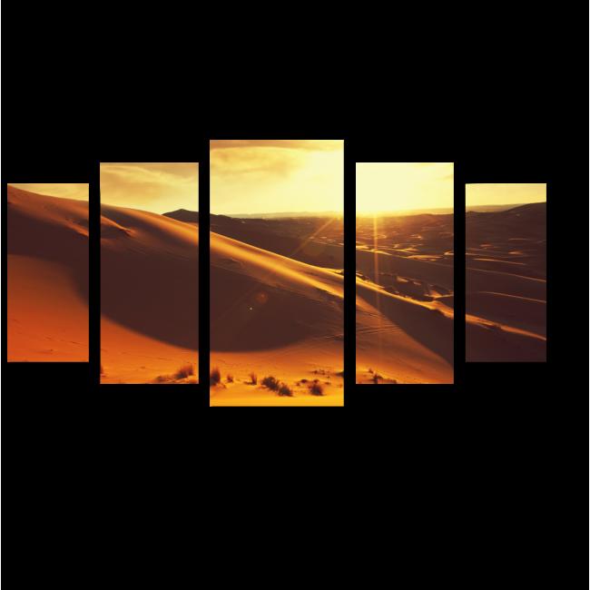 Модульная картина Закат в пустыне