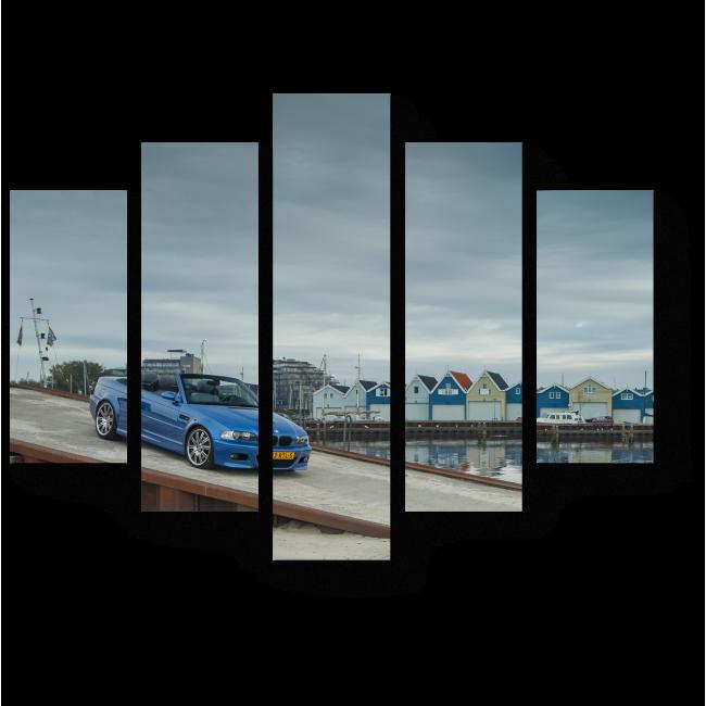 Модульная картина В маленькой гавани