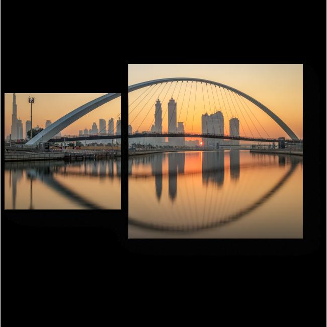 Модульная картина Панорама Дубая