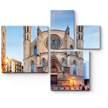 Модульная картина Церковь Святой Марии, Барселона