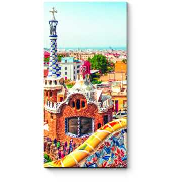 Модульная картина Потрясающий парк Гуэль, Барселона