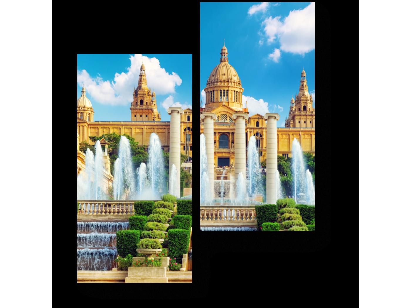 Модульная картина Национальный музей искусства Каталонии (40x50) фото