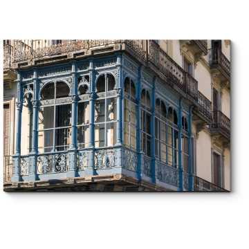 Модульная картина Украшения балкона в стиле каталонского модернизма, Барселона
