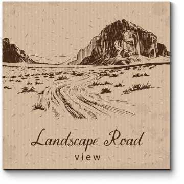 Пустыня с открытки