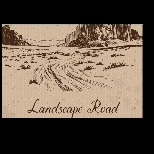 Модульная картина Пустыня с открытки