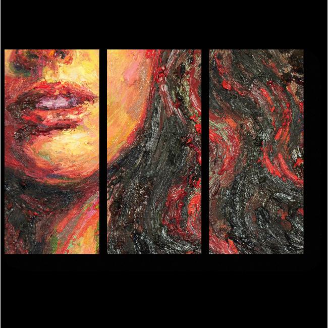 Модульная картина Девушка в красном