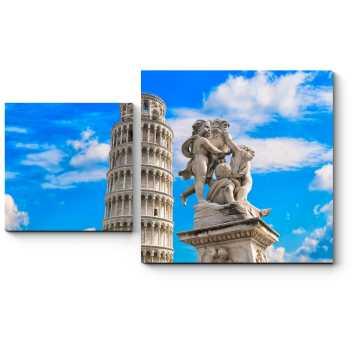 Пизанская башня летним днем