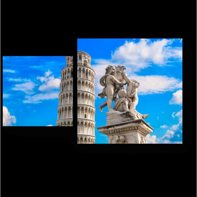 Модульная картина Пизанская башня летним днем