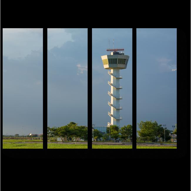 Модульная картина Башня на фоне летнего неба