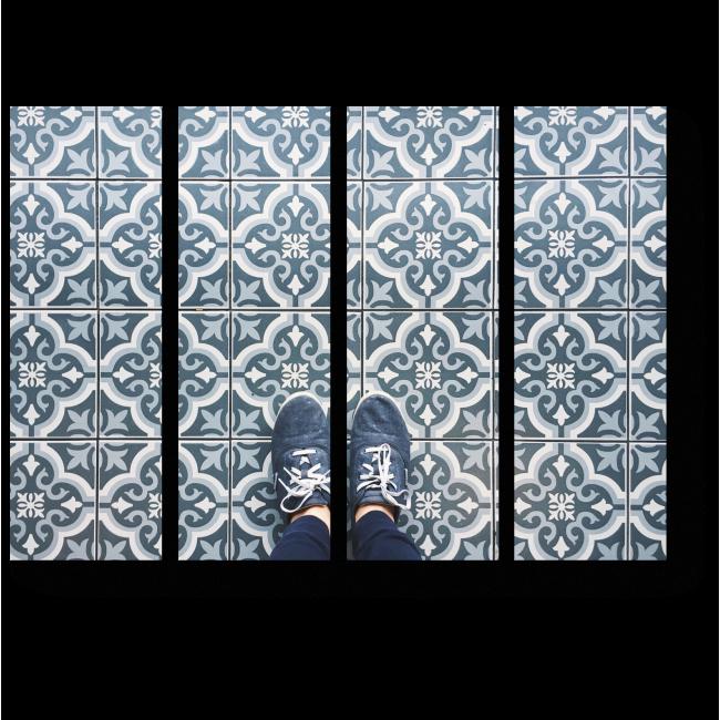 Модульная картина Оттенки синнего