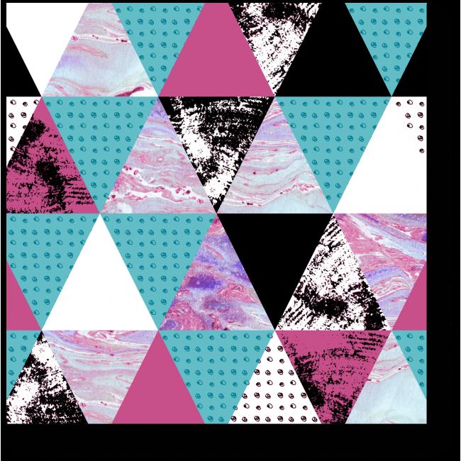 Модульная картина Текстурные треугольники