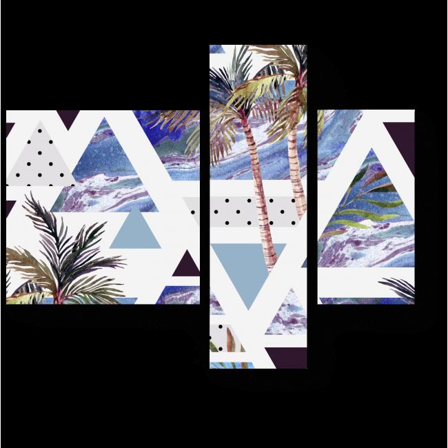 Модульная картина Треугольные тропики