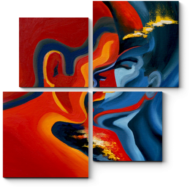 Модульная картина Поцелуй
