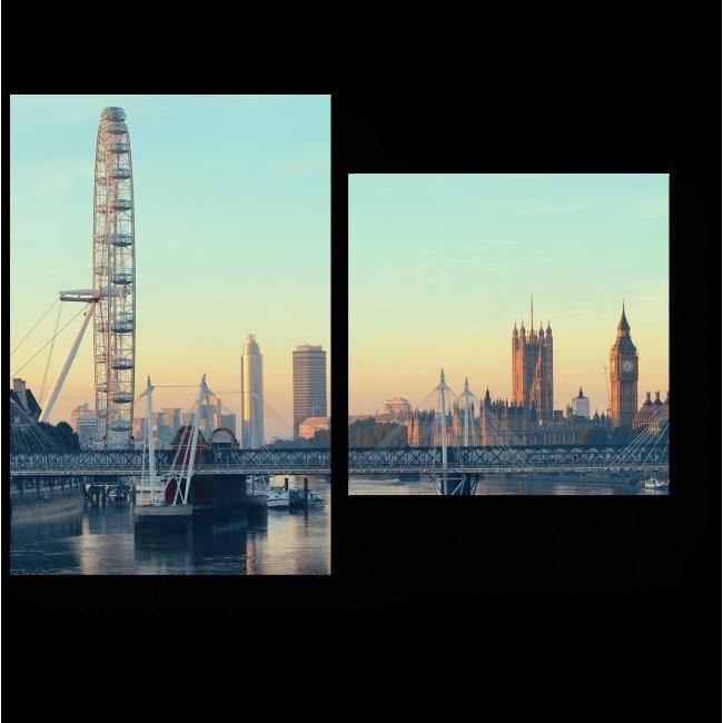 Модульная картина Чудесная панорама Лондона