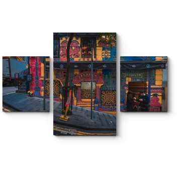 Модульная картина Уютный магазинчик в Гонконге