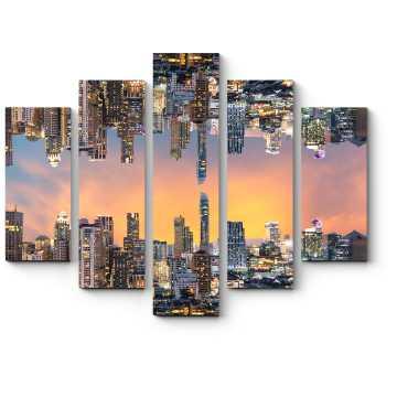 Модульная картина Зеркальный Бангкок