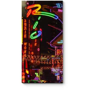 Модульная картина Неоновые огни Бангкока