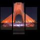 Ночной вид на башню свободы в Тегеране