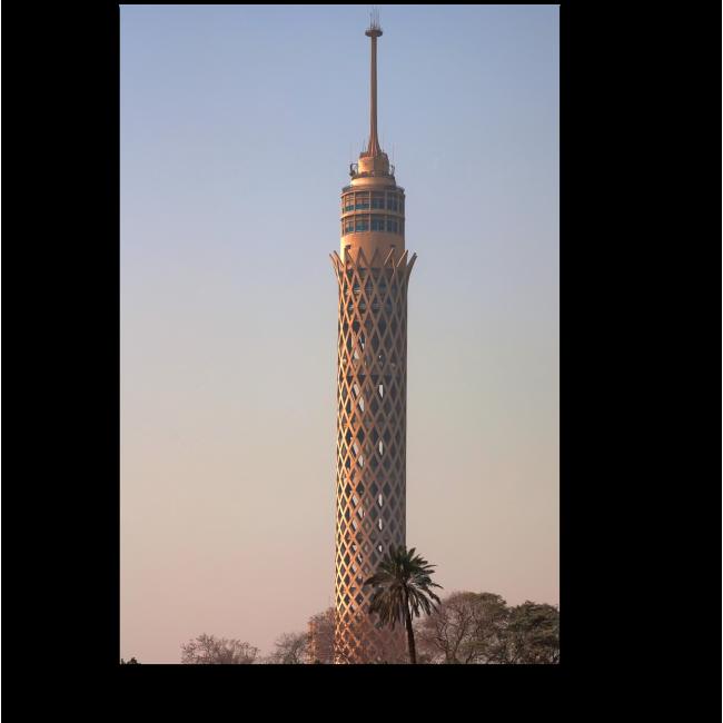 Модульная картина Каирская башня связи