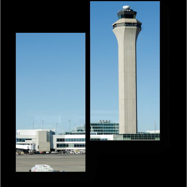 Модульная картина Командно-диспетчерский пункт аэропорта
