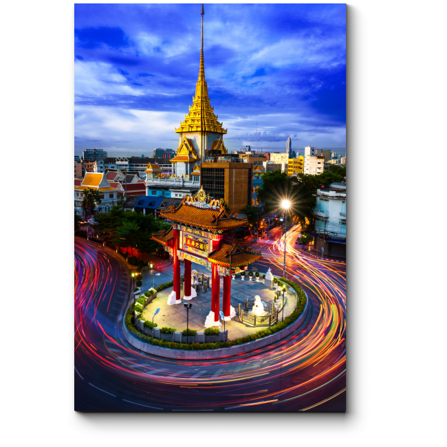 Модульная картина Храм Золотого Будды, Бангкок