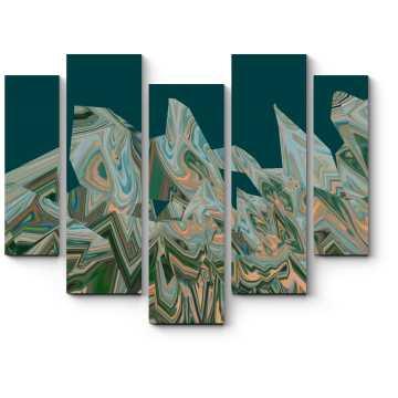 Модульная картина Терракотовые тени