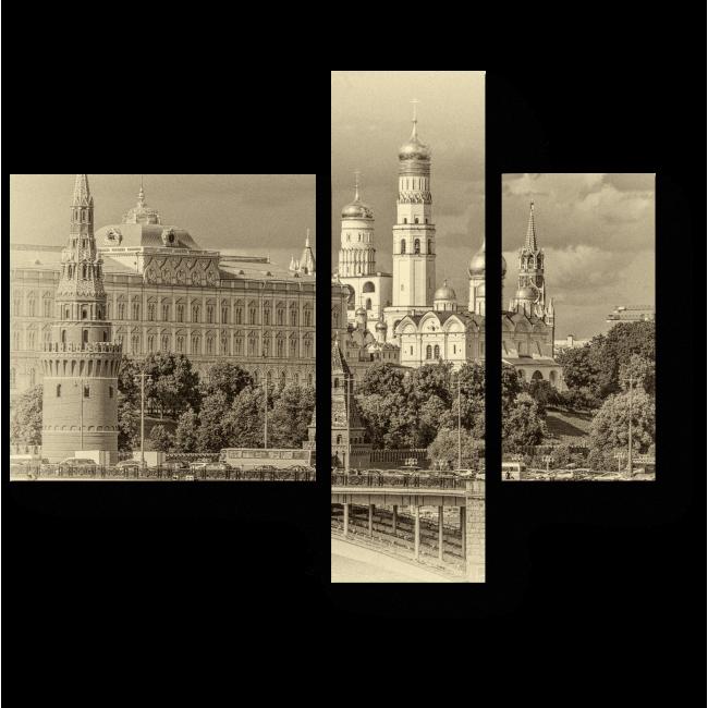 Модульная картина Черно-белая Москва
