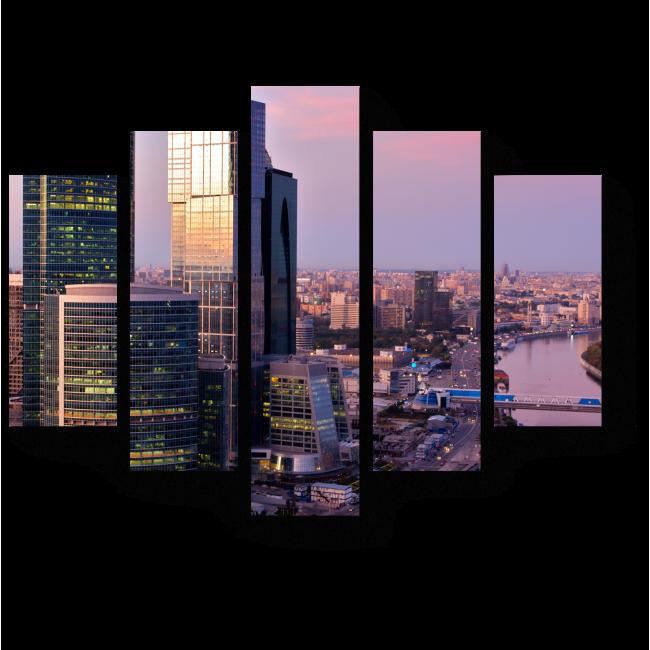 Модульная картина Москва на закате
