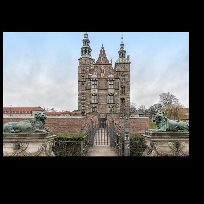 Модульная картина Замок Розенборг в Дании