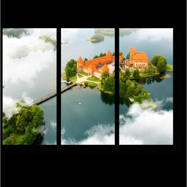 Модульная картина Старый замок в Литве
