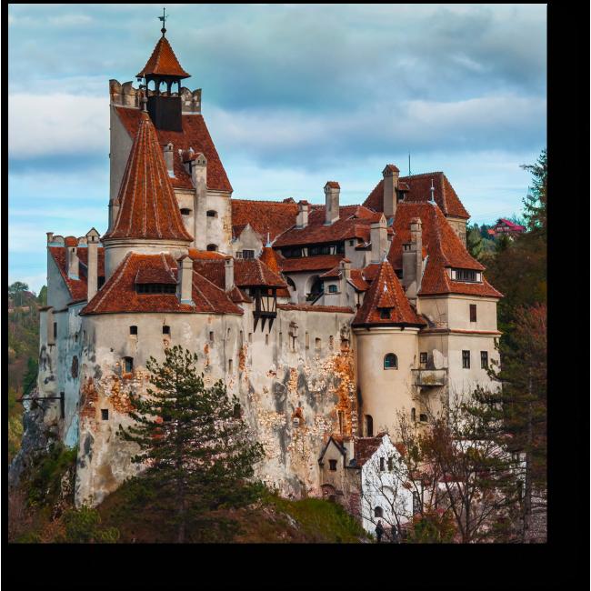 Модульная картина Замок Бран