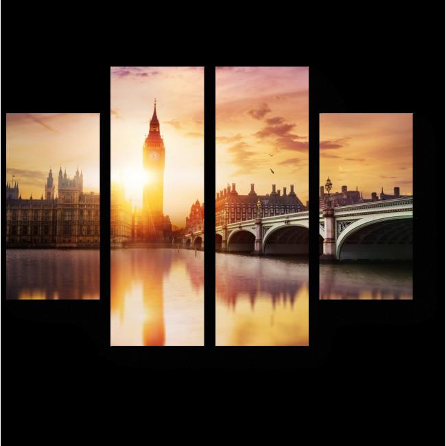 Модульная картина Новый день уже идет, Лондон