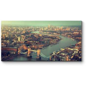 Величественная Темза с высоты птичьего полета, Лондон