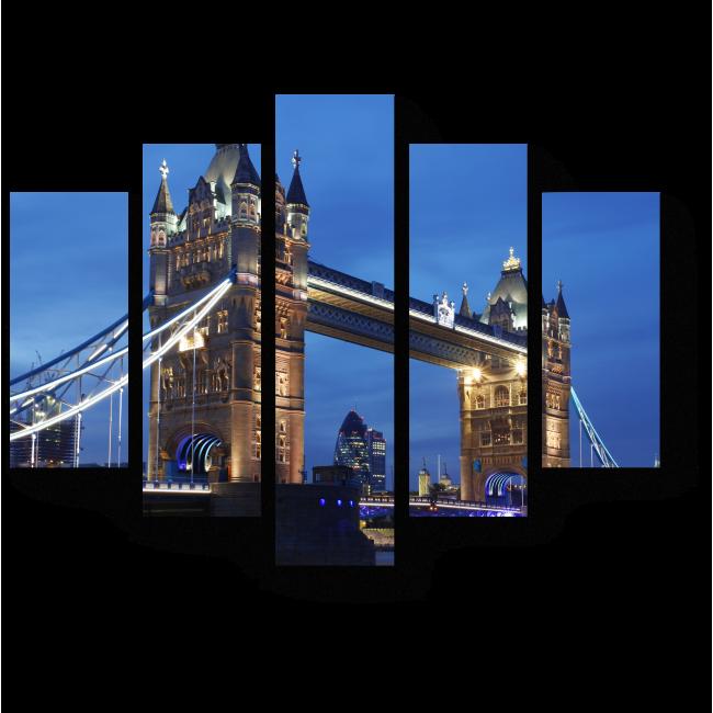 Модульная картина Тауэрский мост на закате дня, Лондон
