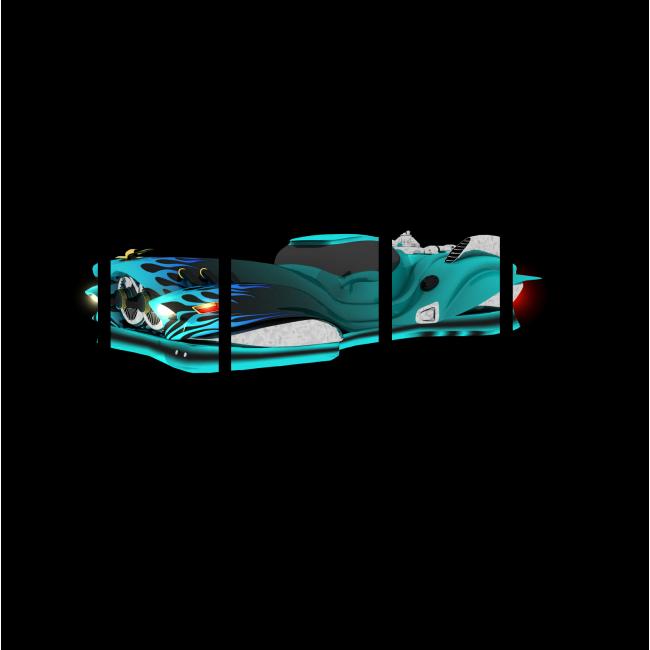 Модульная картина Футуристический парящий автомобиль