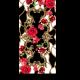 Цветочная композиция на черно-белом фоне