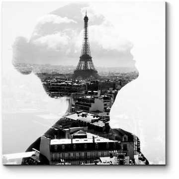 Модульная картина Очарование Парижем