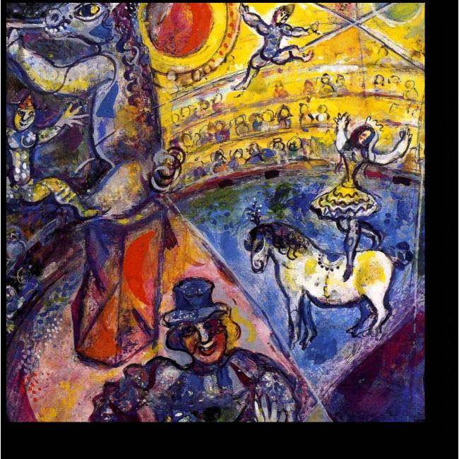 Модульная картина Цирковая лошадь