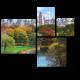 Осеннее озеро в Центральном Парке, Нью-Йорк