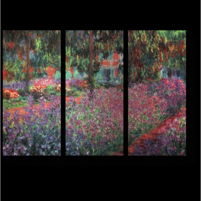 Модульная картина Сад художника в Живерни